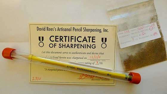 Это не шутка – мужчина вручную заточит ваш карандаш за $15