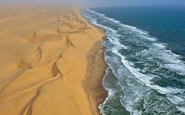 На границе пустыни Намиб и моря