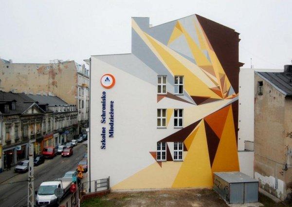 Уличное искусство в городе Лодзь (19 фото)
