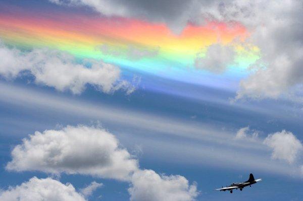 Радужные облака (15 фото)