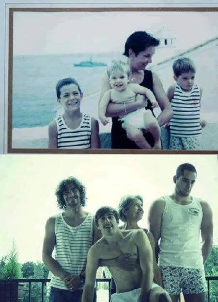 12 Самых прикольных воссозданных семейных фотографий