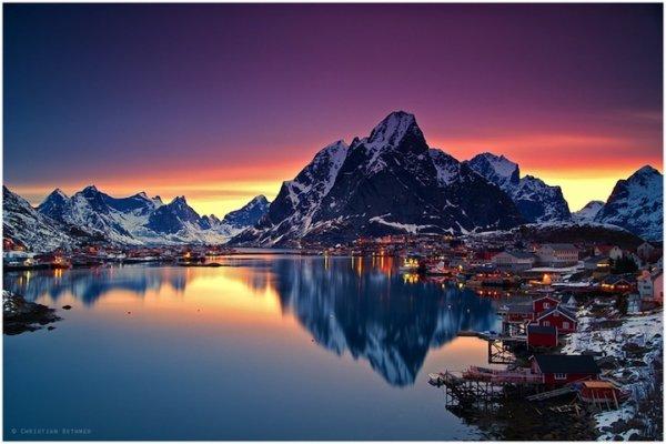 Зимнее очарование норвежской деревушки Рейне (6 фото)