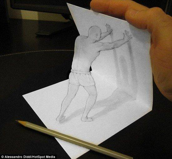 Поразительные анаморфические рисунки художника, которые вот-вот спрыгнут со страниц