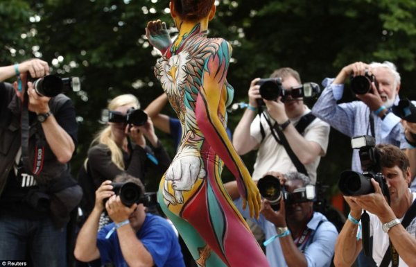 Всемирный фестиваль боди-арта прошёл в Австрии (30 фото)