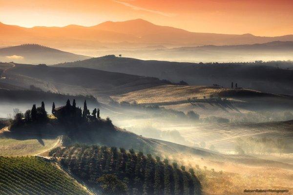 Холмы Тосканы в фотографиях Аднана Бубало (8 фото)