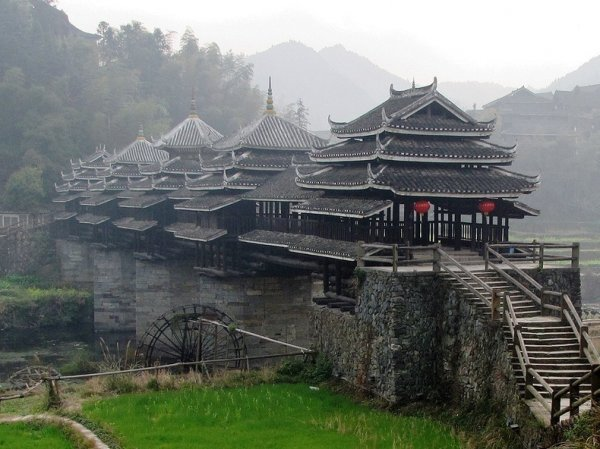 Мосты Ветра и Дождя китайского народа Дун (12 фото)