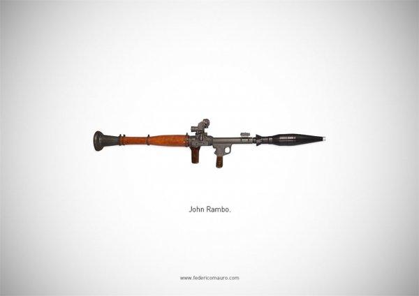 Знаменитое оружие в фотопроекте Федерико Мауро (31 фото)