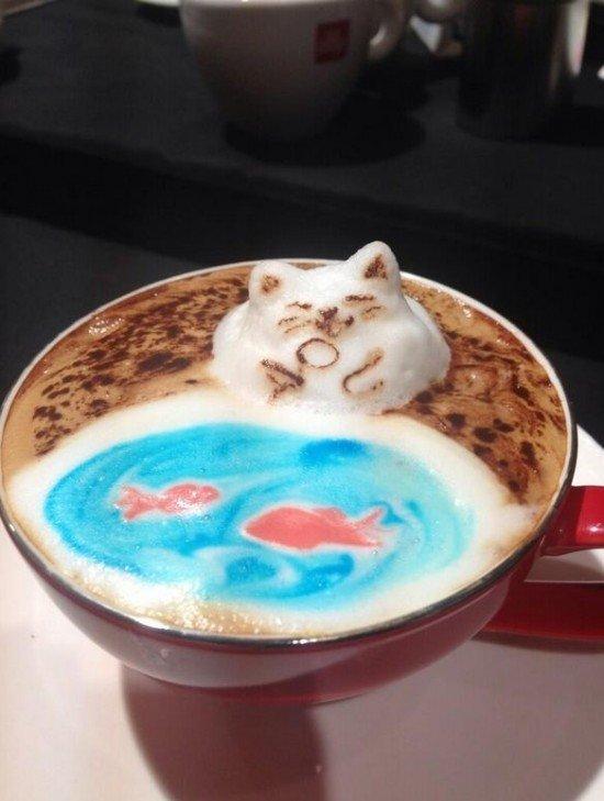 Восхитительный 3D латте-арт от Кохея Матсуно