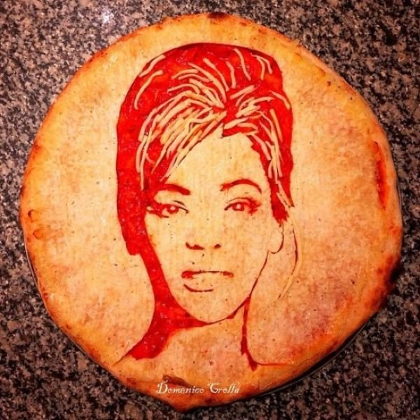 Доменико Кролла, создающий на пиццах портреты знаменитостей (17 фото)