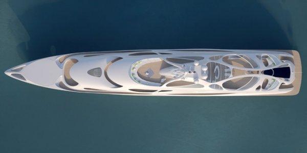 128-метровая суперъяхта от Zaha Hadid (12 фото)