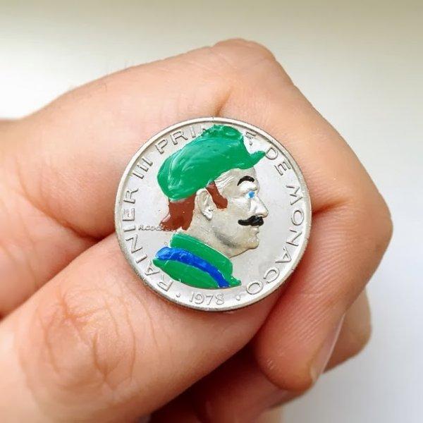 Портреты на монетах, созданные художником Андре Леви (21 фото)
