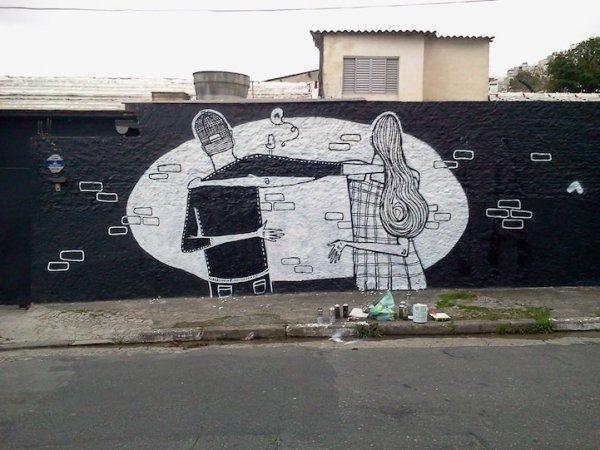 Любовь в уличных рисунках Алекса Сенны (12 фото)