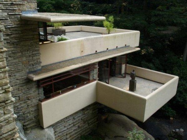 Революционный проект Фрэнка Ллойда Райта: дом, нависший над водопадом (16 фото)