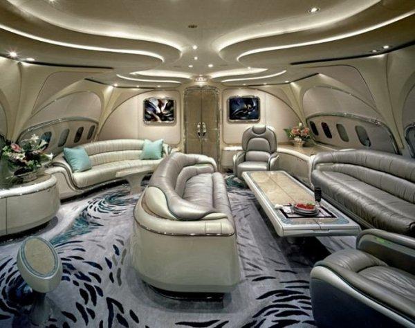 Богатство и роскошь на борту частных самолётов (14 фото)