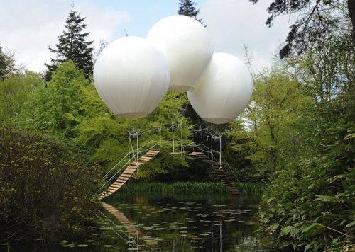 Обезьяний мост на воздушных шарах (6 фото)