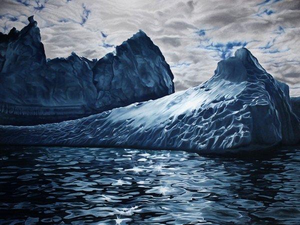 Художница использует свои пальцы для создания потрясающе реалистичных изображений айсбергов (9 фото)