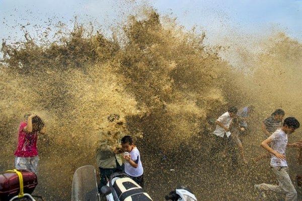 Приливная волна: когда реки текут против течения (14 фото)