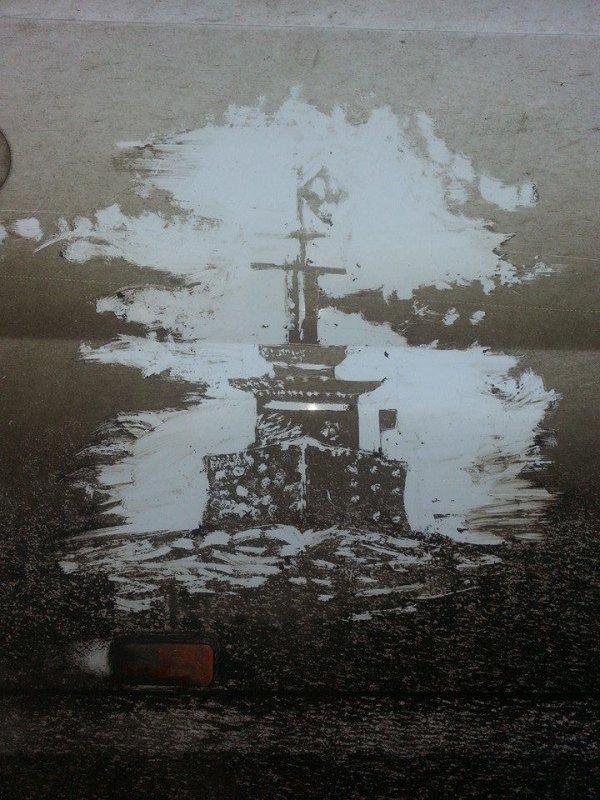 Рисунки грязью (6 фото)