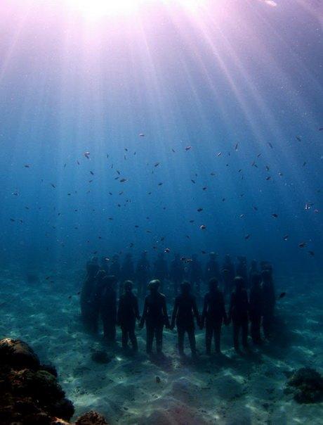 Подводный музей в Канкуне (32 фото)