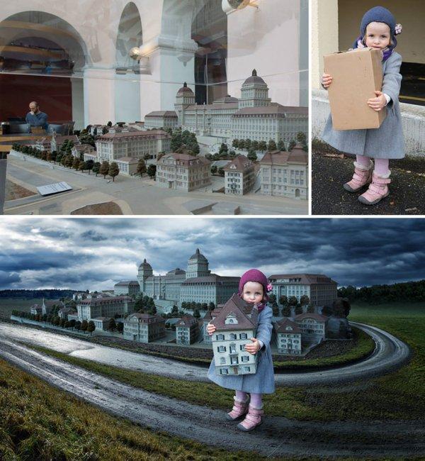 Креативный отец создаёт невероятные фотоманипуляции с тремя своими дочерьми (22 фото)