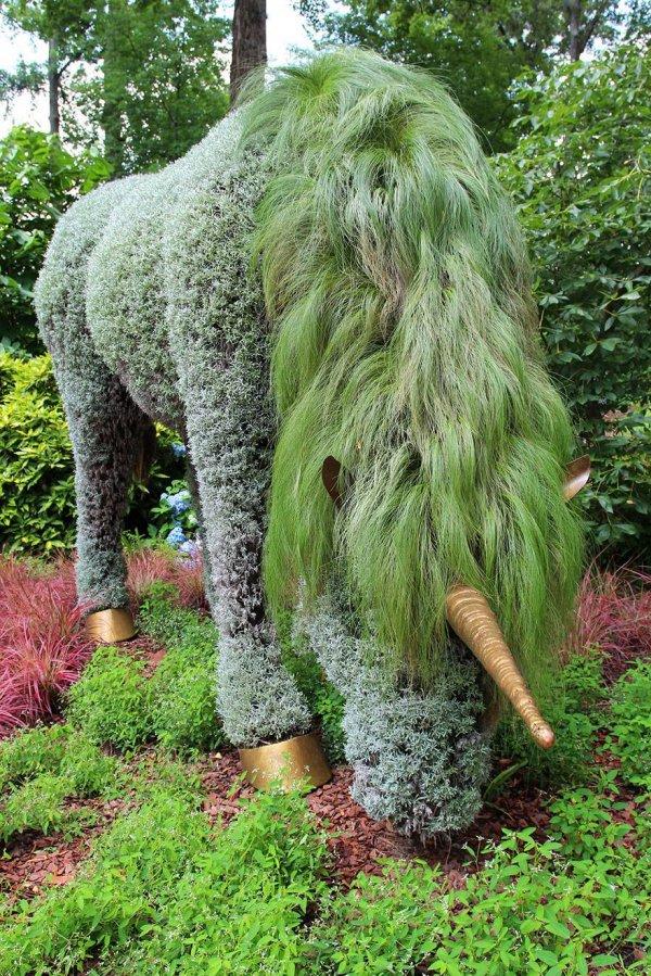 Гигантские живые скульптуры на выставке в ботаническом саду Атланты (12 фото)