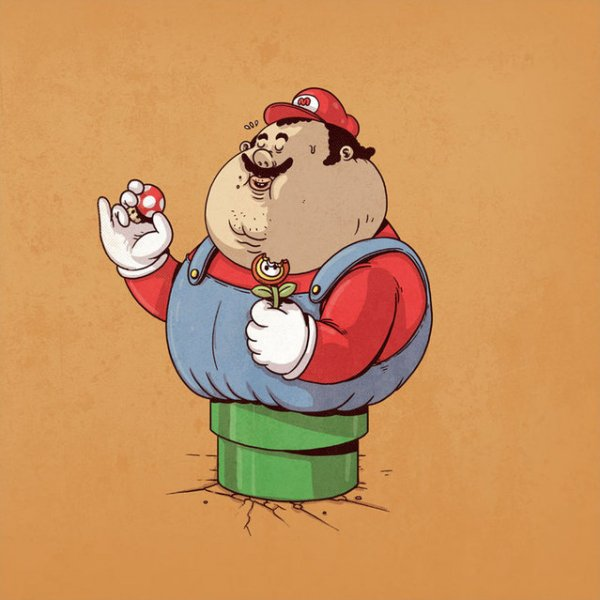 Знаменитые толстяки Алекса Солиса (10 фото)