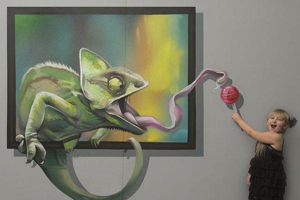 Серия работ с оптическим обманом арт-дизайн студии Brain Mash (7 фото)