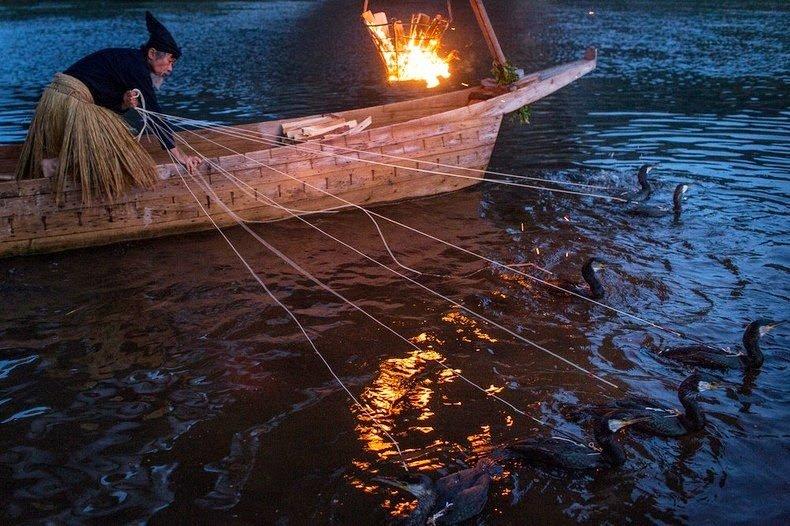 лодка китайского рыбака