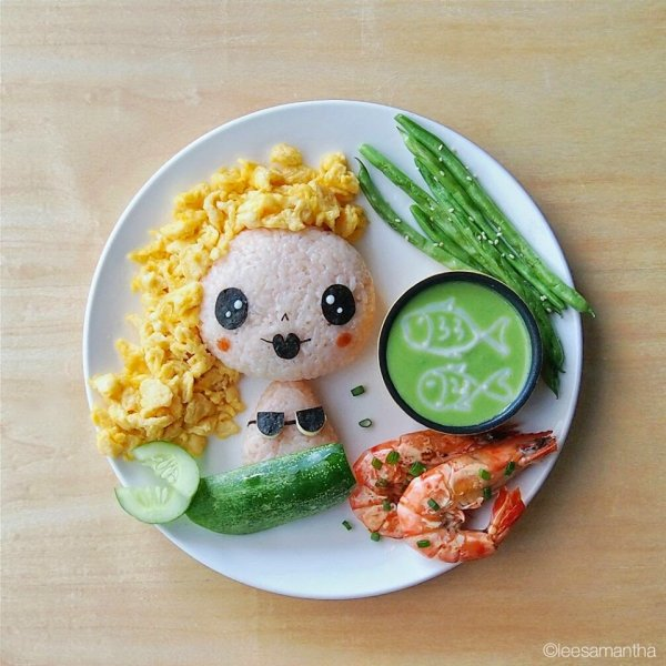 Творческая мама превращает блюда в произведения искусства (30 фото)