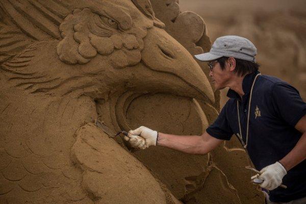 Выставка песочного искусства в Иокогаме (19 фото)