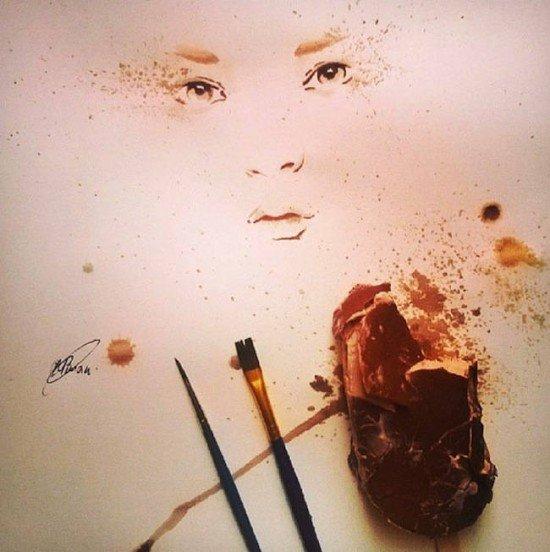 Художник использует тающее мороженое для создания соблазнительно красочных картин (5 фото)