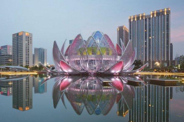 """Уникальный архитектурный проект """"Лотос"""" в Китае (12 фото)"""