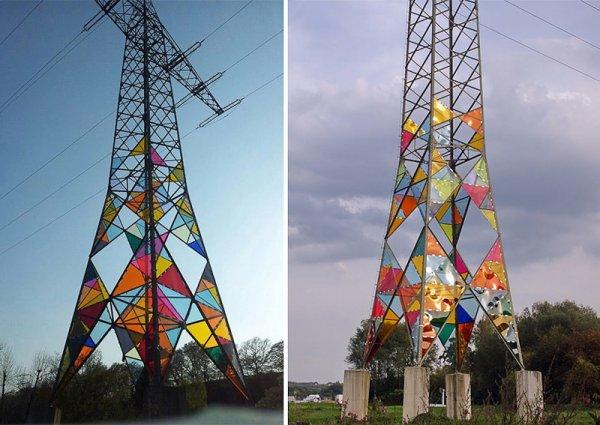 Опора ЛЭП как красочный арт-объект (7 фото)