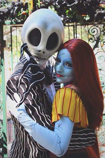 Парные костюмы на Хэллоуин (25 фото)
