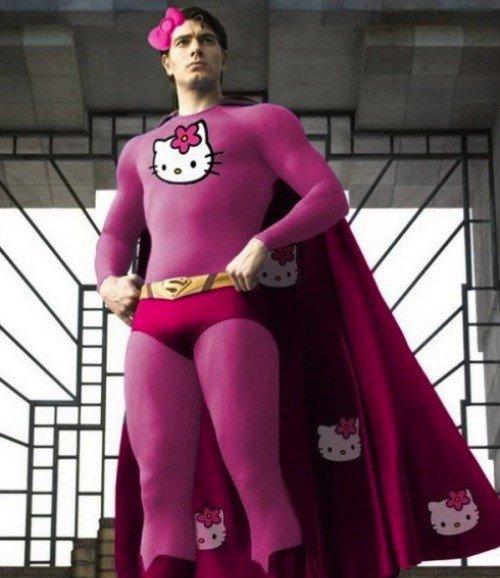Знаменитые супергерои в стиле а-ля Hello Kitty (12 фото)