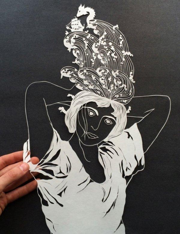 Потрясающе изящные фигуры, вырезанные из бумаги (11 фото)