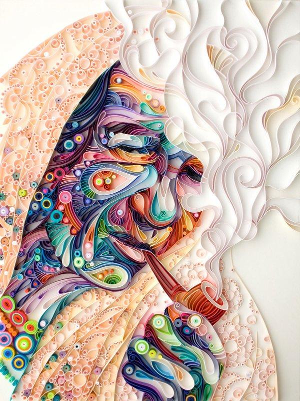 Очаровательные картины Юлии Бродской, созданные в технике квиллинга (10 фото)