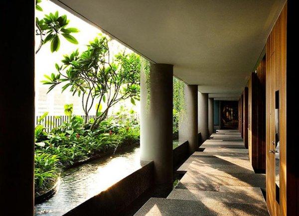 Зелёный отель ParkRoyal в Сингапуре (26 фото)