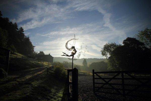 Фэнтезийные проволочные скульптуры фей от Робина Уайта (22 фото)