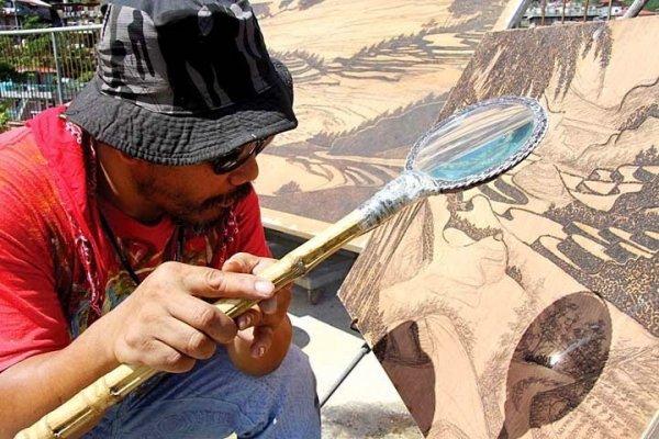 Рисунки солнечной пирографией Джордана Манг-Осана (6 фото)