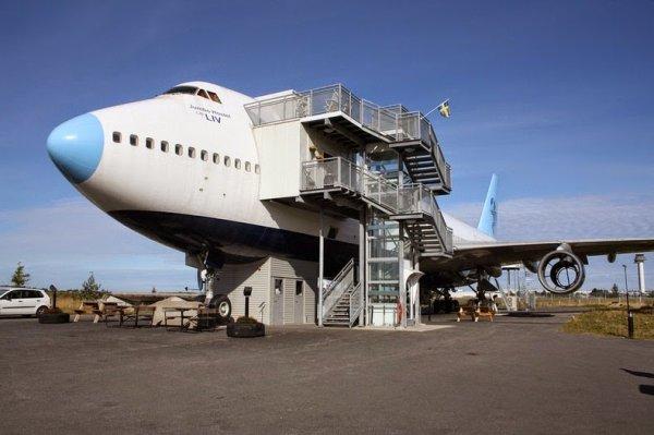 Отель Джамбо: отель-самолёт в Стокгольме (12 фото)