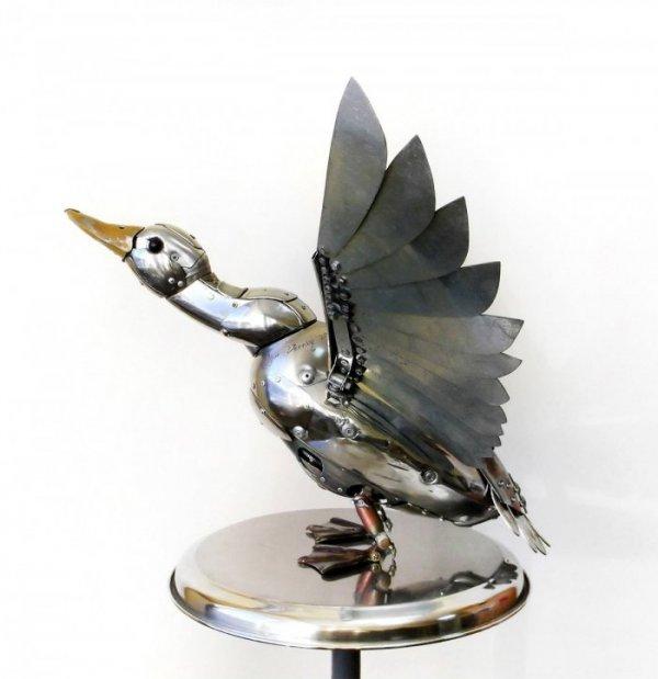 Скульптуры в стиле стимпанк Игоря Верного (10 фото)