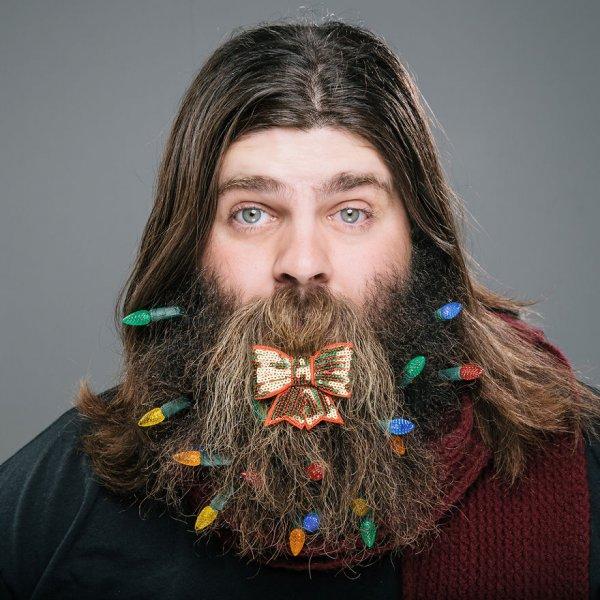 Новогодние бороды (11 фото)