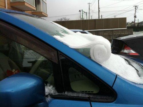 Автомобили как произведения ледяного искусства (28 фото)