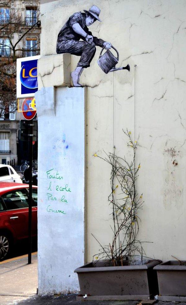 Стрит-арт художника Levalet (15 фото)