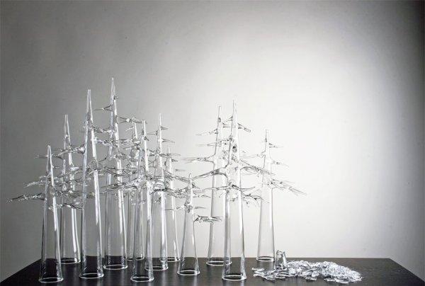 Замечательные стеклянные скульптуры Симона Крестани (15 фото)