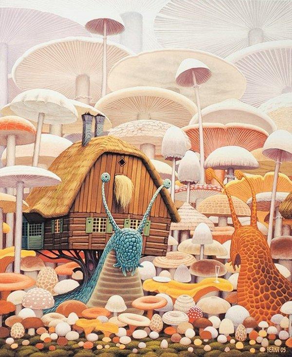 Польский художник создаёт сюрреалистические картины сказочных миров (15 фото)