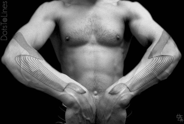 Геометрические татуировки Хаима Махлева (19 фото)