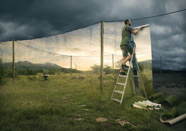 Фотоманипуляции Эрика Йоханссона, меняющие сознание (10 фото)