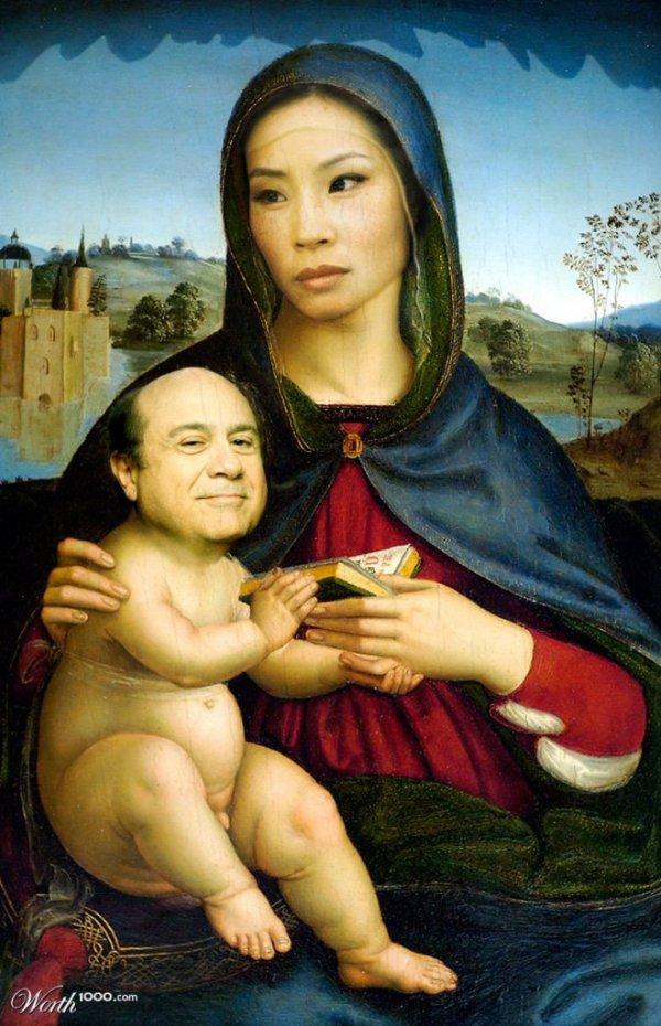 Современные знаменитости на известных картинах великих художников (19 фото)